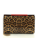 Christian Louboutin Vanite Clutch Printed Patent Small Brown