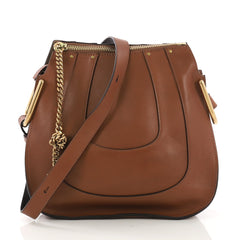 Chloe Hayley Hobo Leather Small Brown 399161