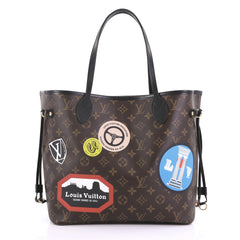 Louis Vuitton Neverfull NM Tote Limited Edition World Tour 400061