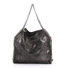 Stella McCartney Falabella Tote Shaggy Deer Small Black 400112