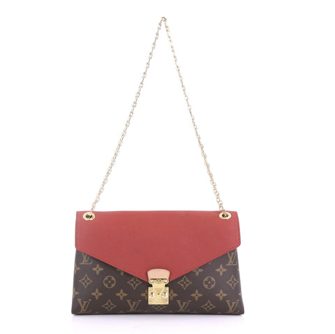 Louis Vuitton Pallas Chain Shoulder Bag Monogram Canvas and 400173 – Rebag