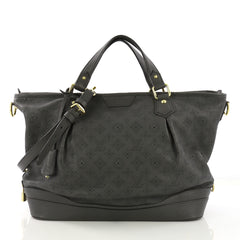 Louis Vuitton Stellar Handbag Mahina Leather PM Gray