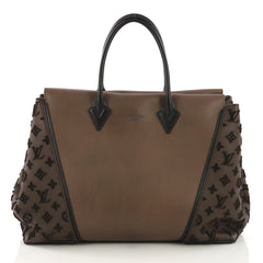 W Tote Cuir Orfevre and Veau Cachemire GM