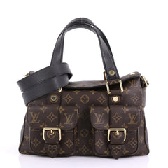 Louis Vuitton Manhattan NM Handbag Monogram Canvas with Leather