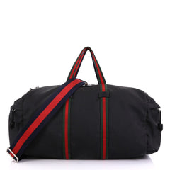 Gucci Technical Duffle Bag Techno Canvas Large Black 400401