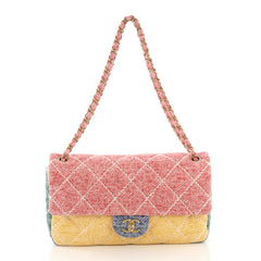 Chanel Ultimate Stitch Flap Bag Multicolor Quilted Jersey Medium