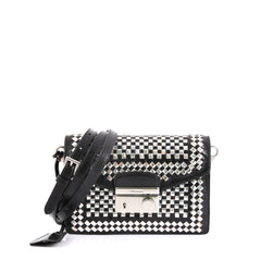 Prada Sound Bag Woven Leather Mini Black