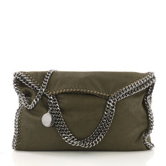 Stella McCartney Falabella Fold Over Bag Shaggy Deer Green 40066185