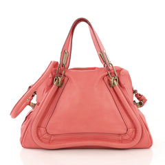 Chloe Paraty Top Handle Bag Leather Medium Pink 40066189
