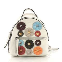 Fendi By The Way Flowerland Backpack Embellished Leather 40066213