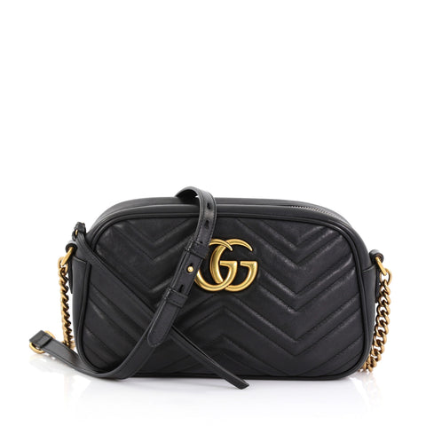 3a36829dc2e Gucci GG Marmont Shoulder Bag Matelasse Leather Small 40066237 – Rebag