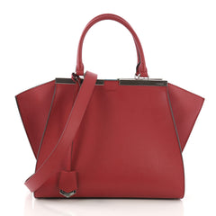 Fendi Petite 3Jours Handbag Leather Red 40066252