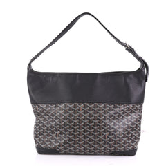 Goyard Grenadine Hobo Coated Canvas with Leather Black 40066278