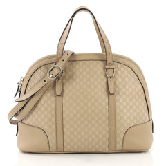 Gucci Nice Top Handle Bag Microguccissima Leather Small Neutral 400662