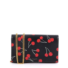 Saint Laurent Wallet on Chain Printed Leather Black