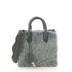 Balenciaga Padlock Nude All Afternoon Tote Fur with Leather Mini