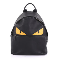 Fendi Selleria Monster Backpack Leather Large Black 40066316