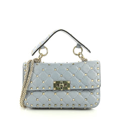 Valentino Rockstud Spike Flap Bag Quilted Leather Small 40066328