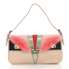 Fendi Monster Baguette Leather with Mink and Crocodile 40066352