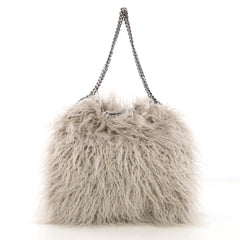 Stella McCartney Falabella Tote Faux Fur Small Gray