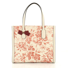 GG Ribbon Tote Coated Printed Canvas Medium