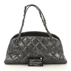 Chanel Just Mademoiselle Bag Quilted Aged Calfskin Medium