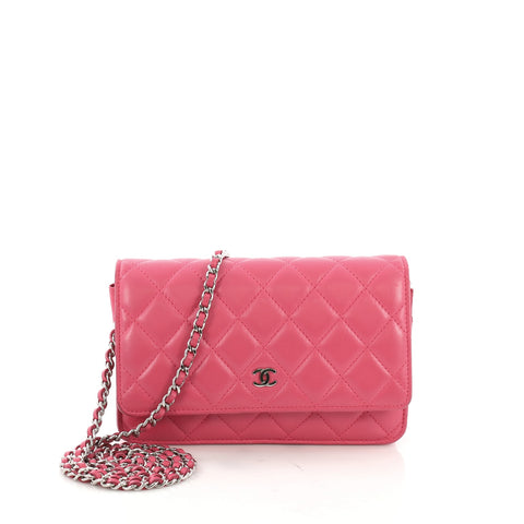 Chanel Wallet on Chain Quilted Lambskin Pink – Rebag ccbff7accbe17