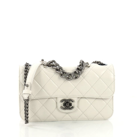 a8c69b3feaba Chanel Perfect Edge Flap Bag Quilted Glazed Calfskin Small 4006672 – Rebag