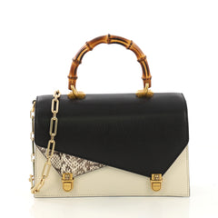 Gucci Ottilia Top Handle Bag Leather with Snakeskin Small 4006684