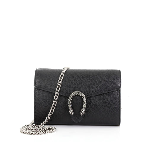 d244c518097 Gucci Dionysus Chain Wallet Leather with Embellished Detail 400701 – Rebag