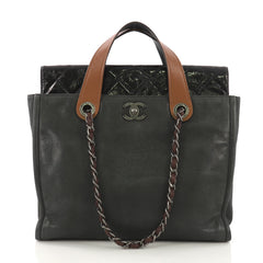 eab15b5220d2 Chanel In the Mix Portobello Soft Tote Quilted Iridescent Calfskin