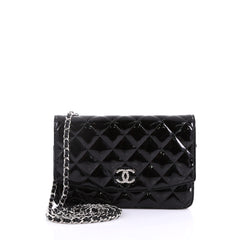 Chanel Brilliant Wallet on Chain Quilted Patent Black