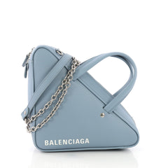Balenciaga Triangle Chain Crossbody Bag Leather XS Blue
