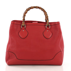 Gucci Diana Bamboo Top Handle Tote Leather Medium Red