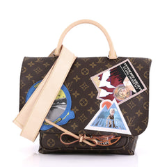 Louis Vuitton Cindy Sherman Camera Messenger Bag Patch Embellished Monogram Canvas