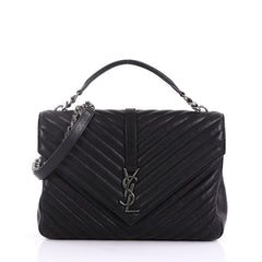 a92d0b1ad298 Saint Laurent Classic Monogram College Bag Matelasse Chevron 40189 1