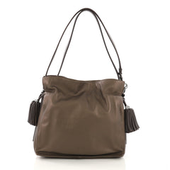 Loewe Flamenco Bag Leather Medium Brown 40197/37