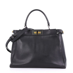 Fendi Peekaboo Bag Leather Regular Black 4019747