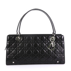 Christian Dior Lady Dior Soft Zip Tote Cannage Quilt Leather Large