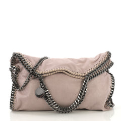 Stella McCartney Falabella Fold Over Bag Shaggy Deer Pink
