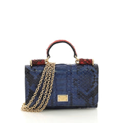 Dolce & Gabbana Sicily Wallet on Chain Python Mini Blue