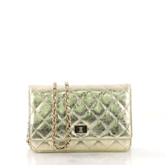 Chanel Reissue Wallet on Chain Quilted Aged Calfskin Gold