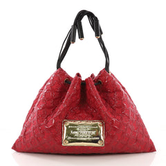 Louis Vuitton Squishy Tote Monogram Vinyl Red