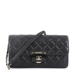 Chanel Beauty Lock Flap Bag Quilted Sheepskin Medium Black