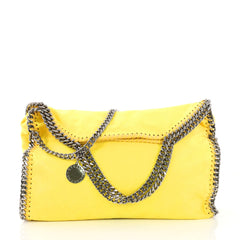 Stella McCartney Falabella Fold Over Bag Shaggy Deer Yellow 402461