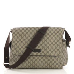 Gucci Diaper Bag GG Coated Canvas Brown