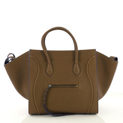 Celine Phantom Handbag Grainy Leather Medium Brown