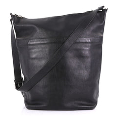 Saint Laurent Zip Bucket Tote Leather Large Black 4030438