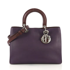 Christian Dior Diorissimo Tote Smooth Calfskin and Python 4030439