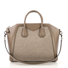 Givenchy Antigona Bag Wool and Leather Medium Neutral